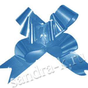 Бант-бабочка 23 мм перламутровый синий