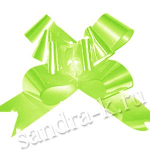 Бант-бабочка 18 мм перламутровый светло-зеленый