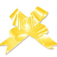 Бант-бабочка 30 мм перламутровый желтый