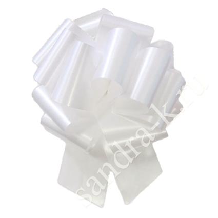 Бант-шар белый однотонный 50А