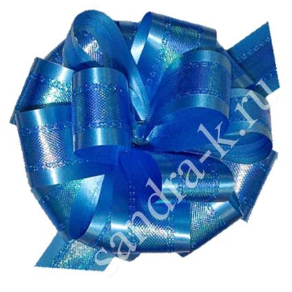Бант-шар синий перламутровый 50П
