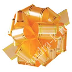 Бант-шар оранжевый 50В с золотой полосой