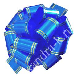 Бант-шар 50В с золотой полосой синий