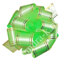 Бант-шар 50В c золотой полосой светло-зеленый