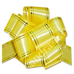 Бант-шар 50В c золотой полосой желтый