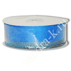 Лента-трансформер 3,8см/45м органза синяя