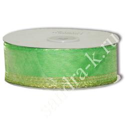 Лента-трансформер 3,8см/45м органза зеленая