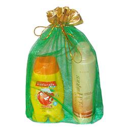 Мешочек для подарков зеленый 20-30 см с золотой каймой