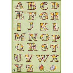 Наклейка английский алфавит 47158