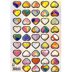 Наклейка сердечки металл. 38579
