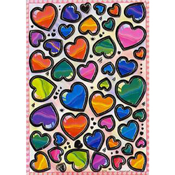 Наклейка сердечки металл. 38702