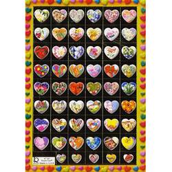Наклейка сердечки металл. 47181