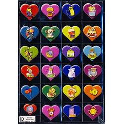 Наклейка сердечки металл. 47195