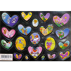 Наклейка сердечки металл. 510030