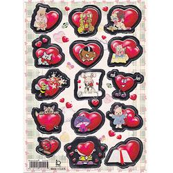 Наклейка сердечки металл. 510109