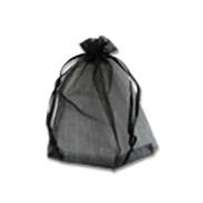 Мешочки из органзы 14-19 см черные