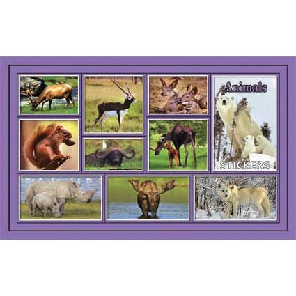 Наклейка дикие животные 187-11