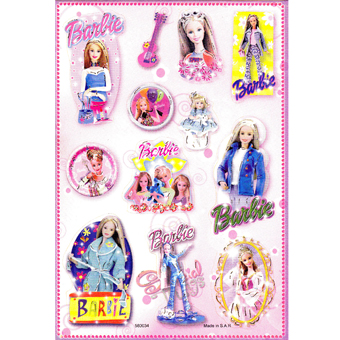 Наклейка Барби 580034
