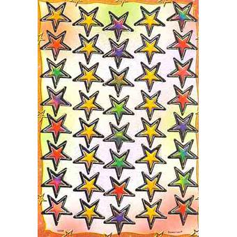 Наклейка звезды металл. 38696