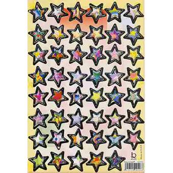 Наклейка звезды металл. 510103