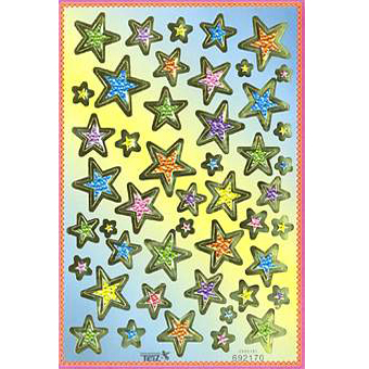 Наклейка звезды металл. 692170