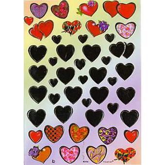 Наклейка сердечки металл. 40799
