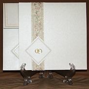 Свадебное приглашение с кольцами 170061-ok